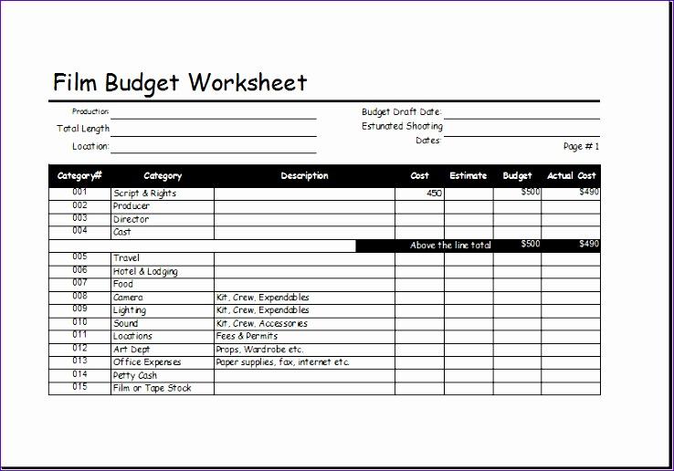 film bud worksheet
