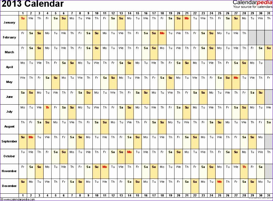 3 Month Calendar Template Excel Gg2ih Unique 2013 Calendar Excel 11 Free Printable Templates Xls Xlsx