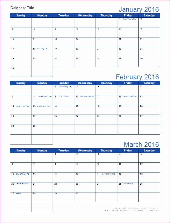 6 3 month calendar template excel exceltemplates for Calendar template by vertex42 com