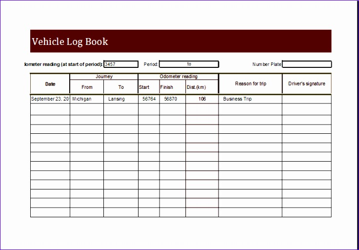 Allowance Tracker Template Eecvc Beautiful Vehicle Log Book Template for Ms Excel