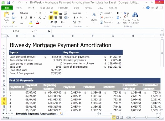 Professionally Designed to Show Your Mortgage Payment Schedule 580x422