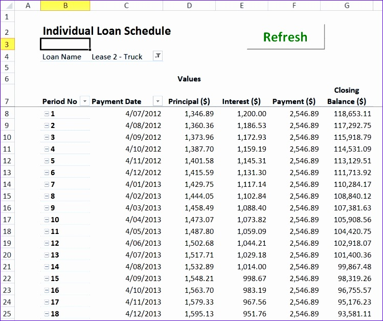 Amortization Table Excel Template  Exceltemplates  Exceltemplates