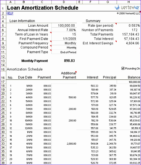 10 Amortization Table Excel Template - ExcelTemplates - ExcelTemplates