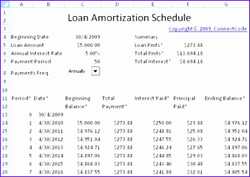 LoanAmortizationSchedule