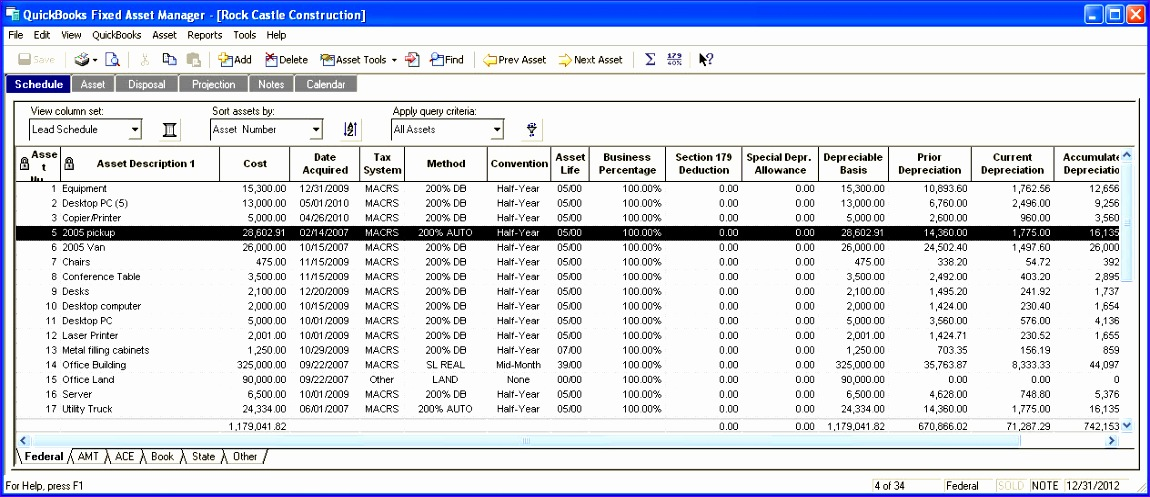 fixed asset register excel template 8077