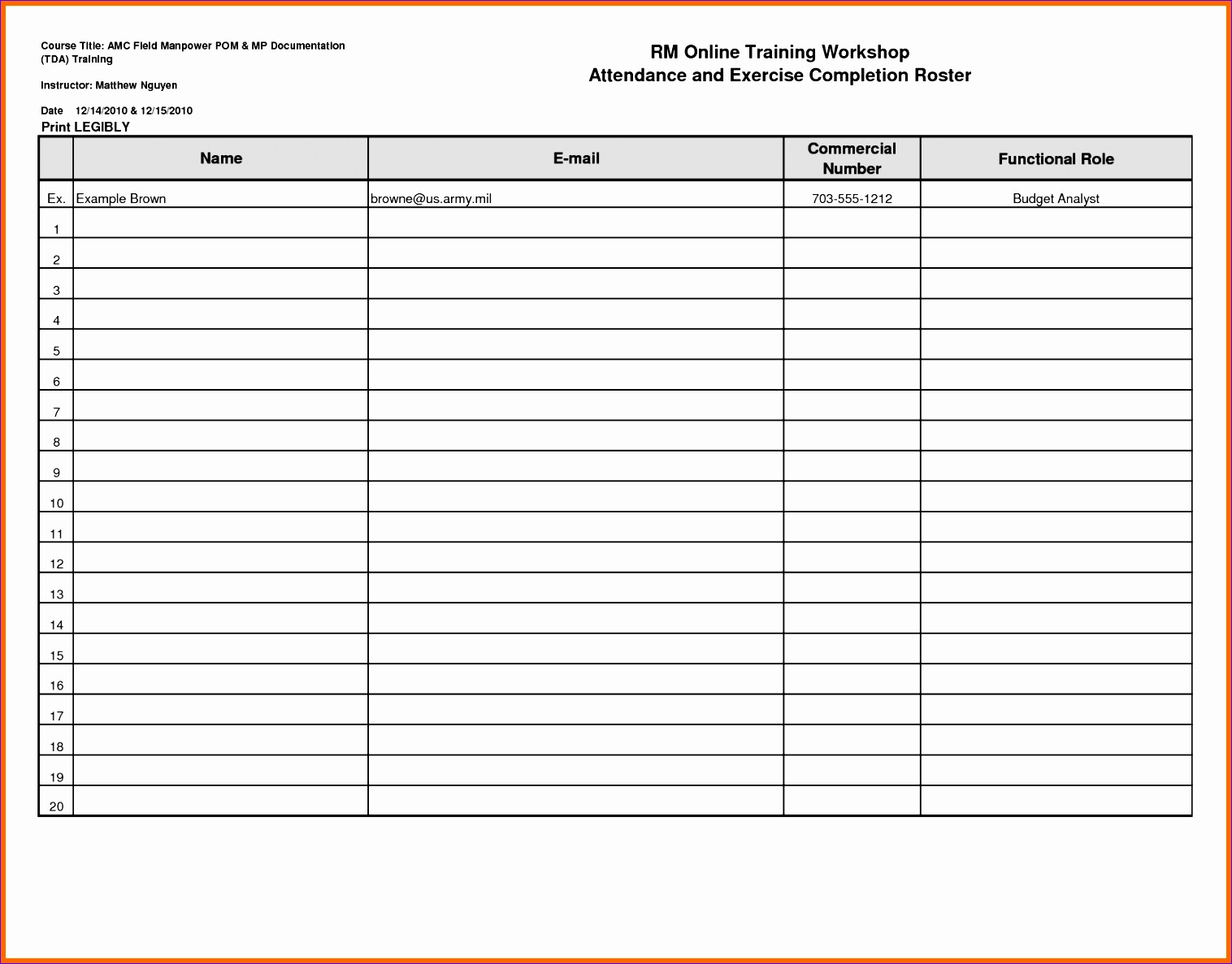 blank roster template profile templates printable book report staff baseball attendance template spreadsheet excel word sheet