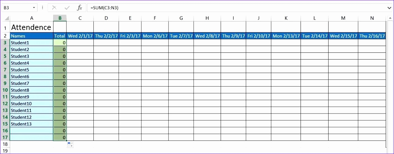 Attendance Spreadsheet Template Excel E2tnl Lovely How To Create A