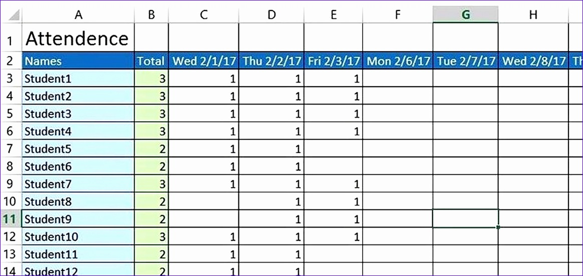 create basic attendance sheet excel 1280x600