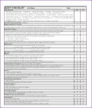 Audit Checklist Template1