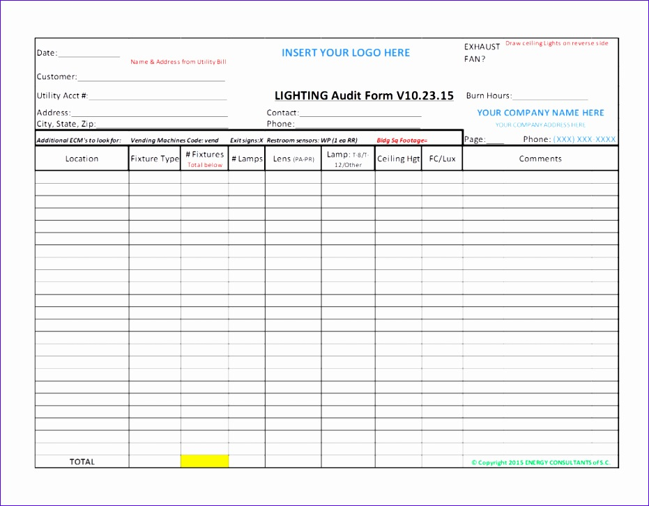 Audit Checklist Template Excel Rebnk Fresh Internal Audit Checklist