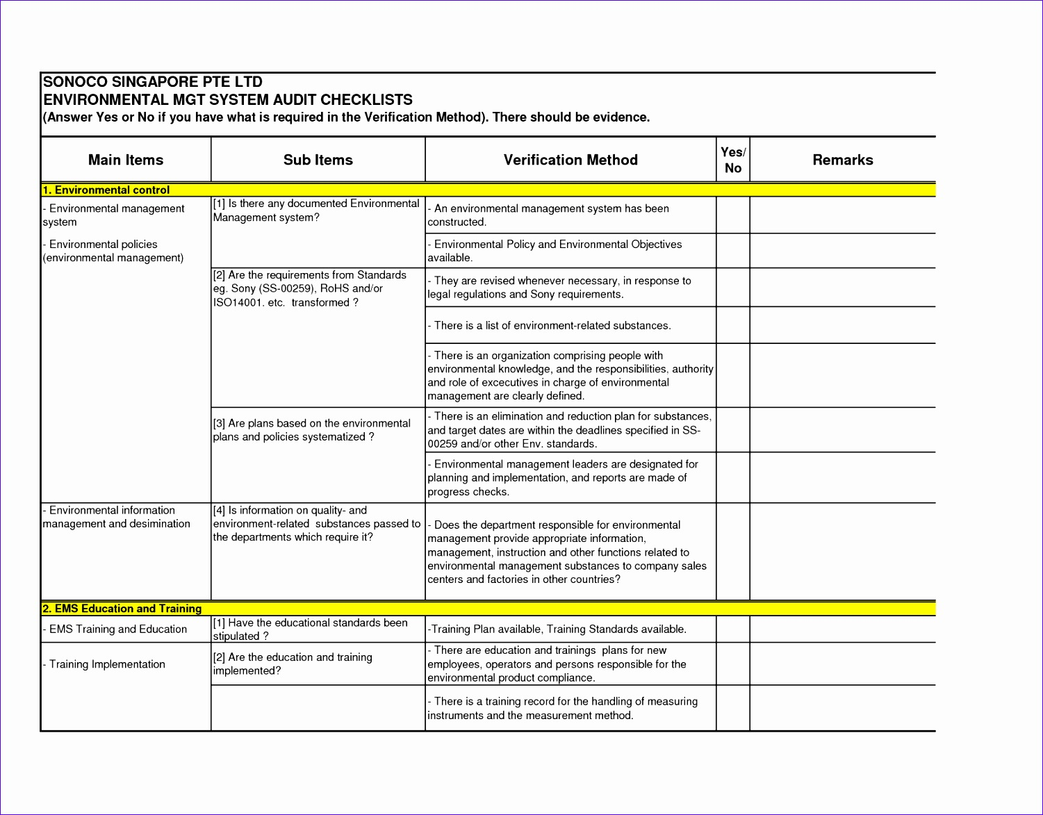 internal audit checklist template excel 6 Audit Checklist Template Excel - ExcelTemplates - ExcelTemplates