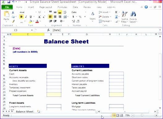 Balance Sheet Template Excel Free Download Wheea Best Of Simple Balance Sheet Template for Excel