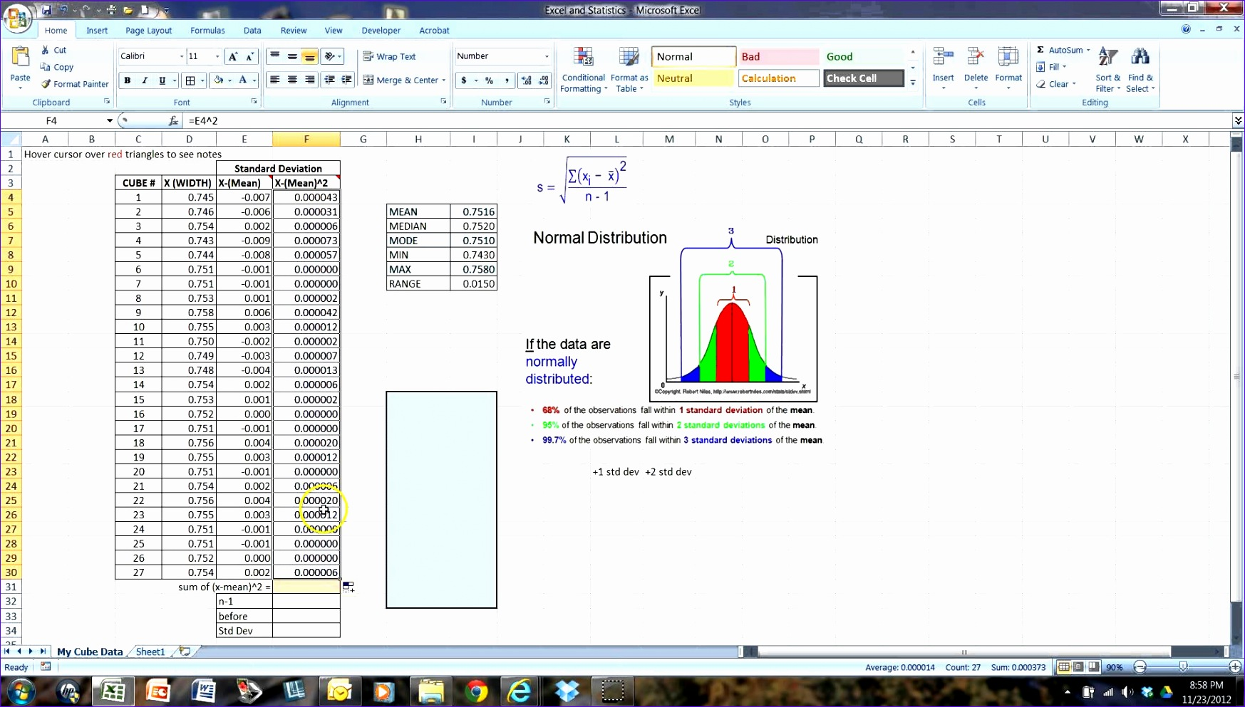 Bell Curve Excel 2010 Template C7zpr New Using Excel to Calculate Standard Deviation and Make A Histogram