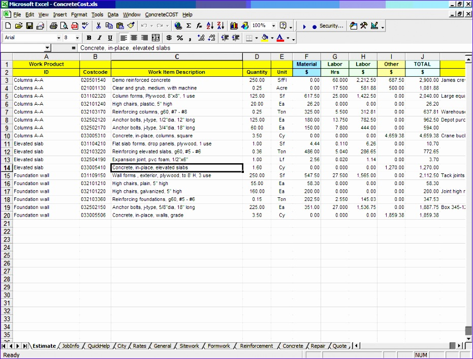 Bill Of Material Excel Template Dweca Awesome How to Build A Concrete Patio