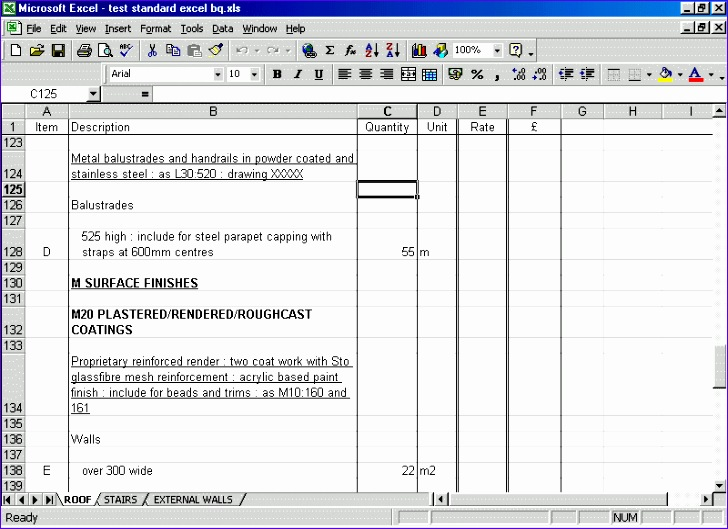 Bill Of Quantities Excel Template Bstme Best Of 4 Bills Of Quantities format