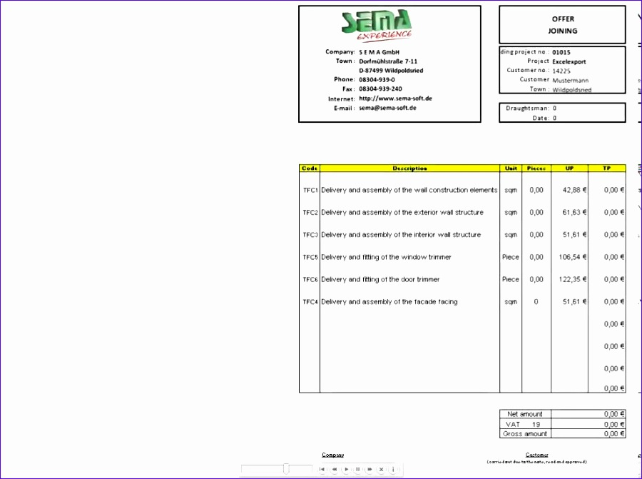 Bill Of Quantities Excel Template Vckdp Awesome Excel Templates for Quotations and Bill Of Quantities Calculations