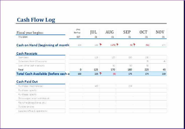 cash flow log 1