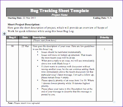 Bug Report Template Excel Skgax Best Of Bug Tracking Sheet Template