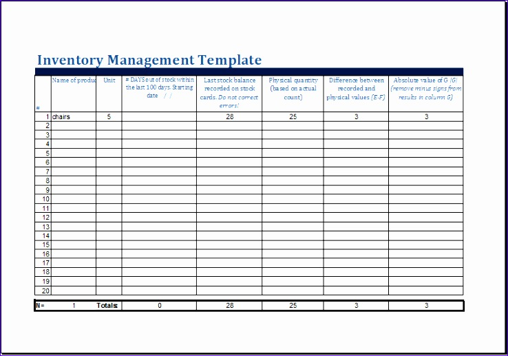 Business Inventory Template 4scro Awesome Ms Excel Printable Inventory Management Template