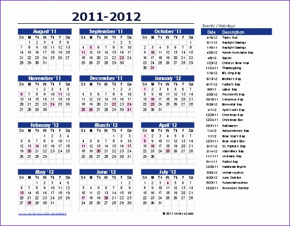 calendar of events template yearly event calendar