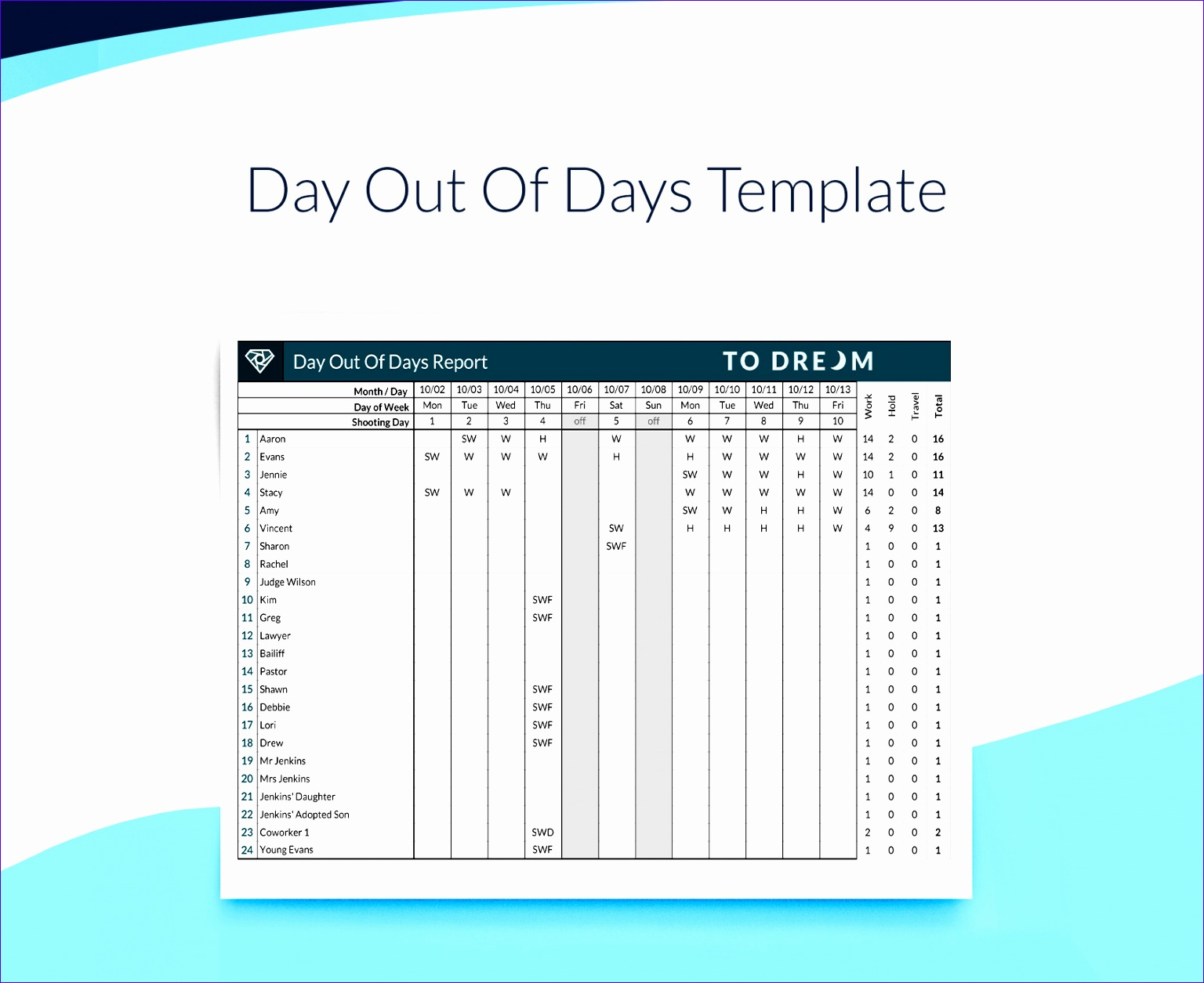 Free Day Out Days Template Example