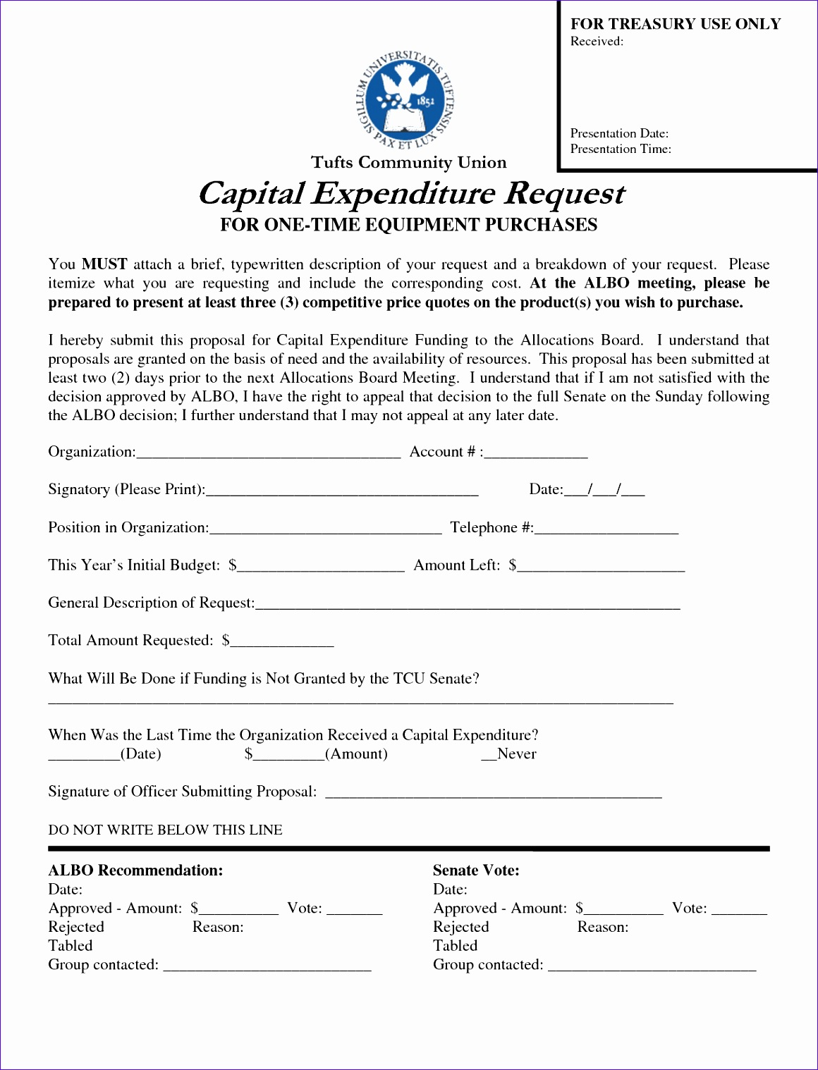 Capital Budgeting Excel Template C0dsa Luxury Credit Card Justification form
