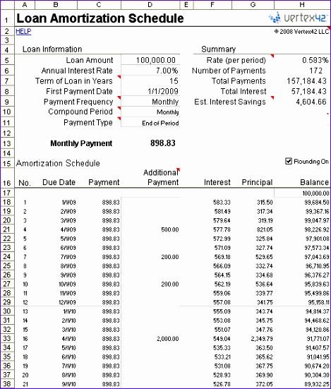 loan amortization schedule large