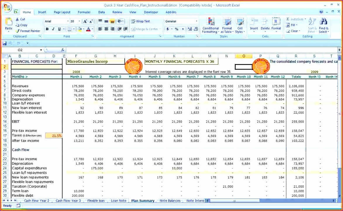 cash management excel