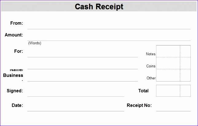 7 cash receipts template excel