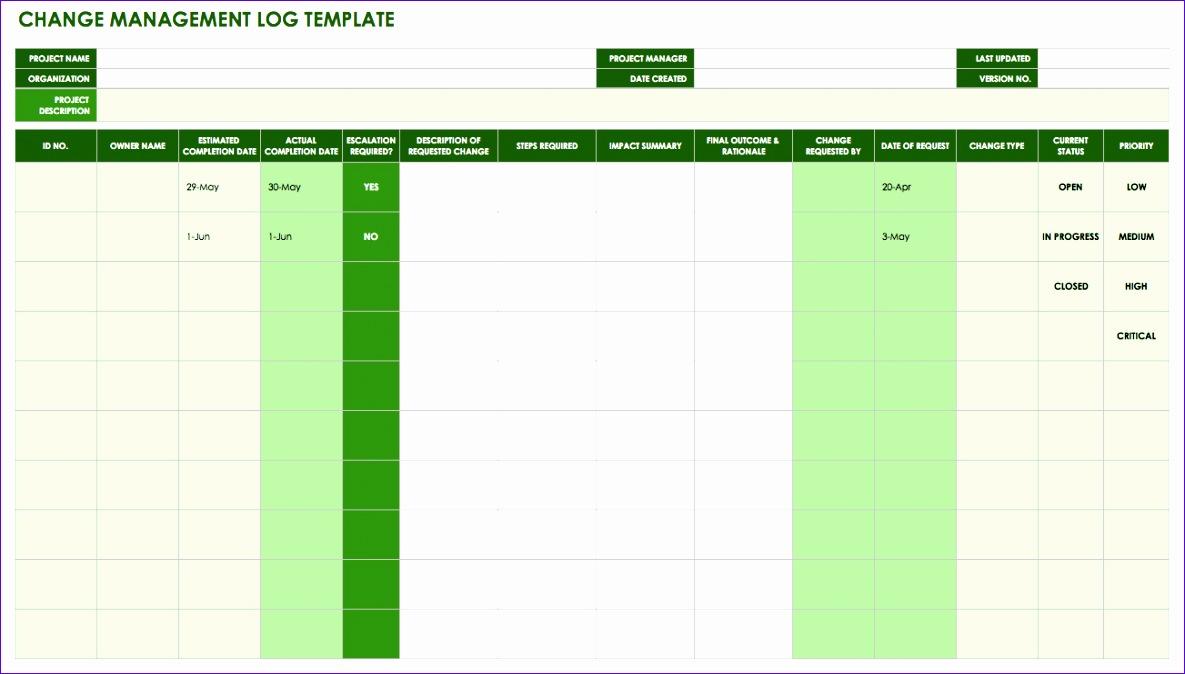 IC Change Management Log