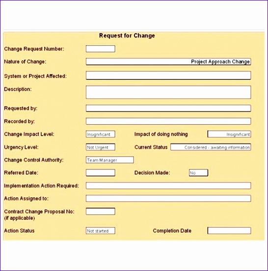 10 Change Control Template Excel Exceltemplates Exceltemplates