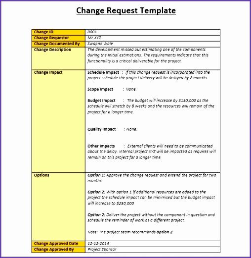 Change Control Template Excel Yvrhl Luxury Change Management ...