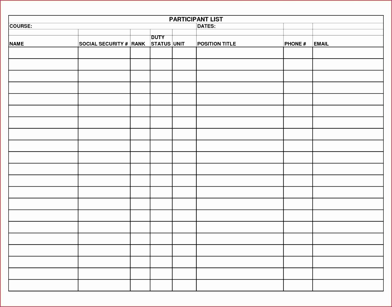 blank checklist template 3