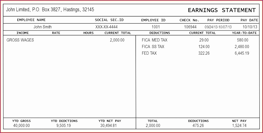 pay stub template excel sample pay stub