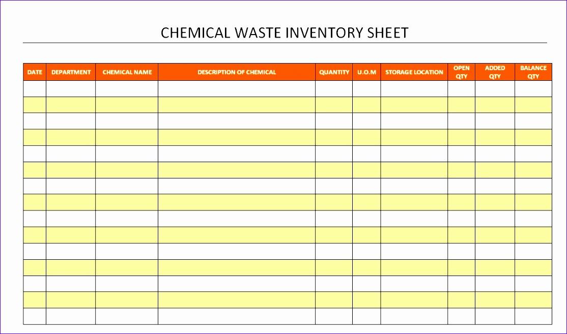 spreadsheet sample hazardous chemical inventory template with regard to chemical inventory spreadsheet