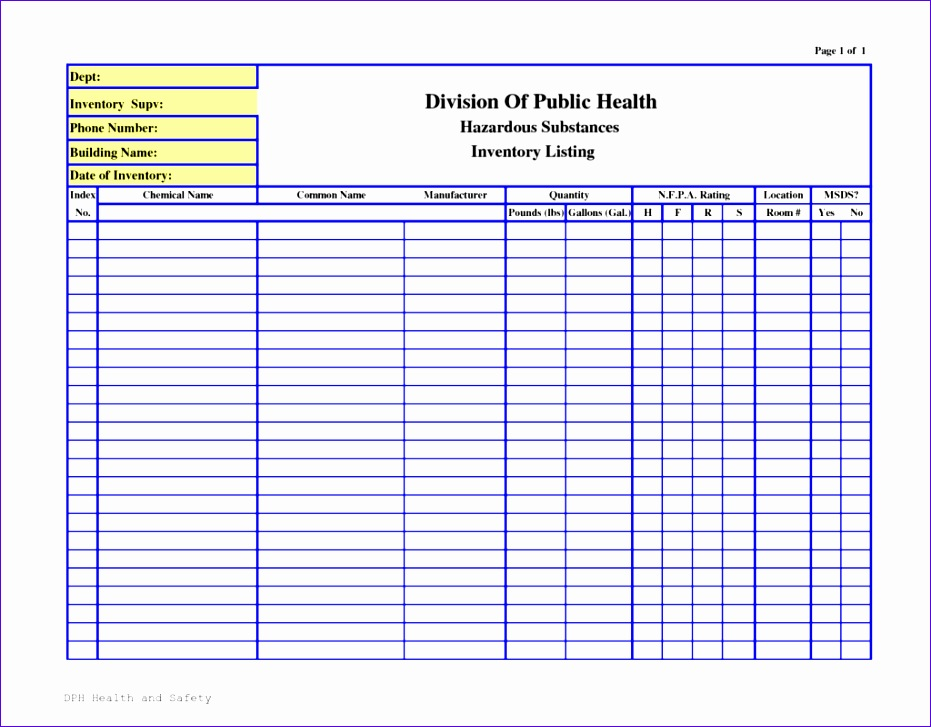 business templates chemical inventory list template sample 1024x791