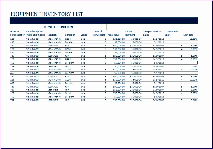 College Budget Management Sheet Hivjk Luxury Ms Excel Equipment Inventory List Template