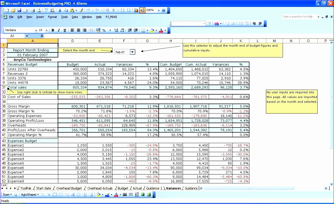 10 Company Budget Template Excel Free - ExcelTemplates - ExcelTemplates
