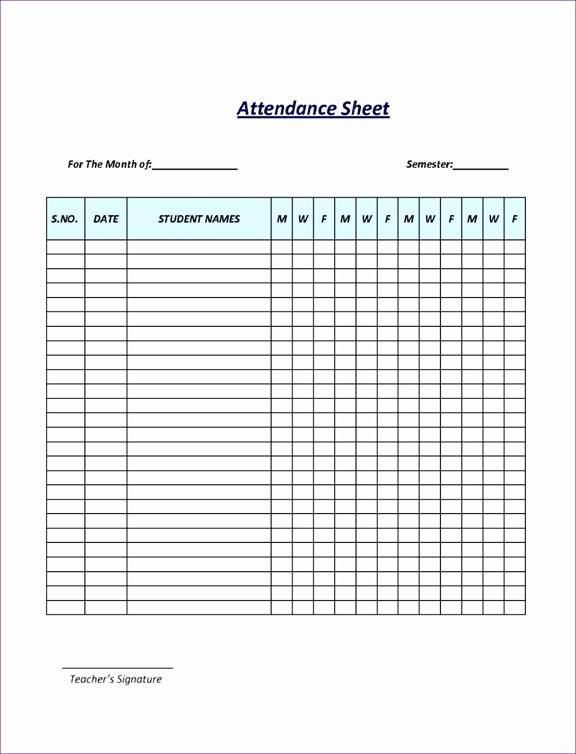 attendance template word general liability waiver printable 7 best images of sheet free employee post agreement for services agenda meeting apartment lease templates audit form