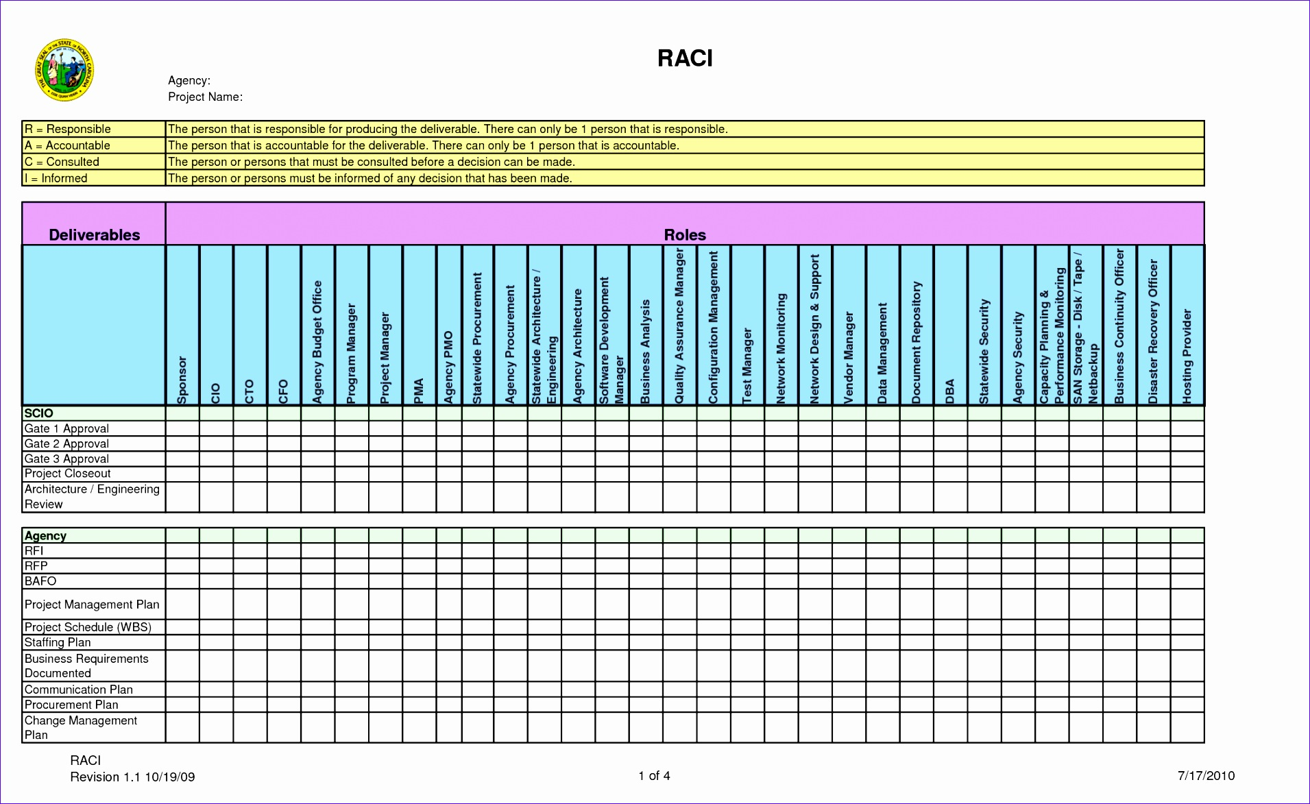raci matrix template excel