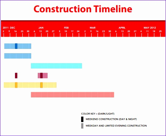 Sample Blank Construction Schedule Template