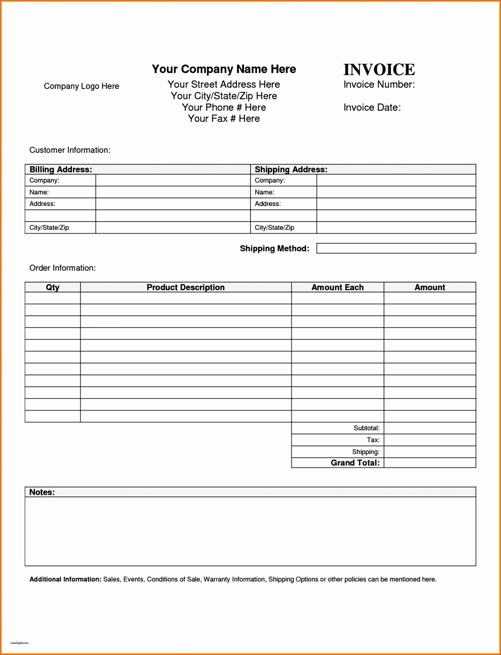 Contact Information Template Excel Ncfkn Elegant Doc Free Printable order form Template – order form
