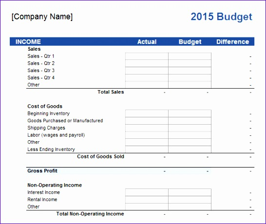 small business annual bud template sample business bud 9 documents in pdf excel