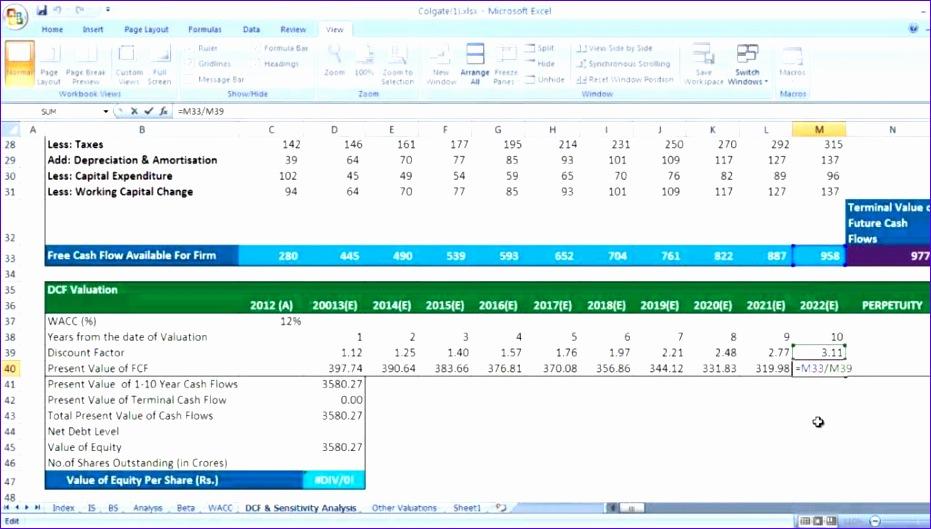 Cash flow templates excel free