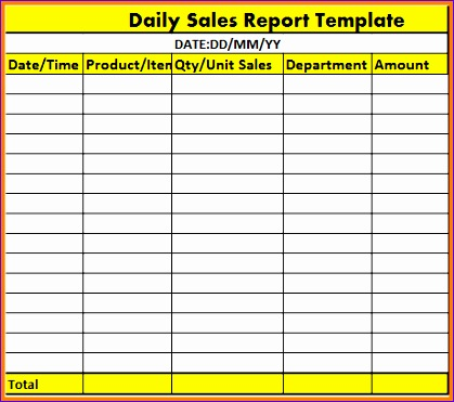 Daily Sales Report Template Excel Free Epvkv Best Of 7 Daily Report Format  In Excel  Daily Report Format
