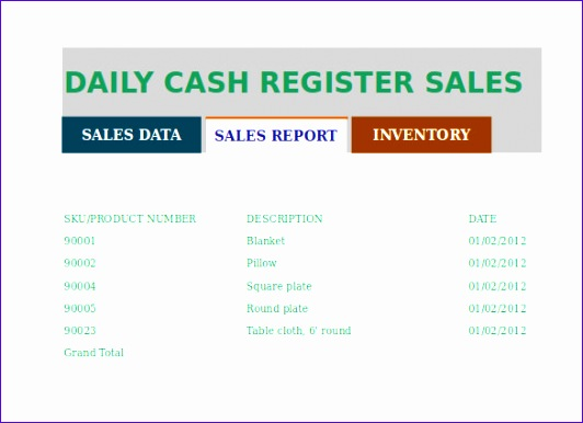 daily sales report sample format