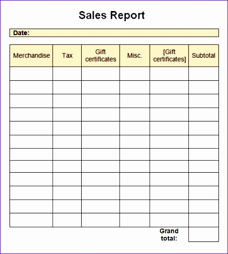 Sales Report Template1