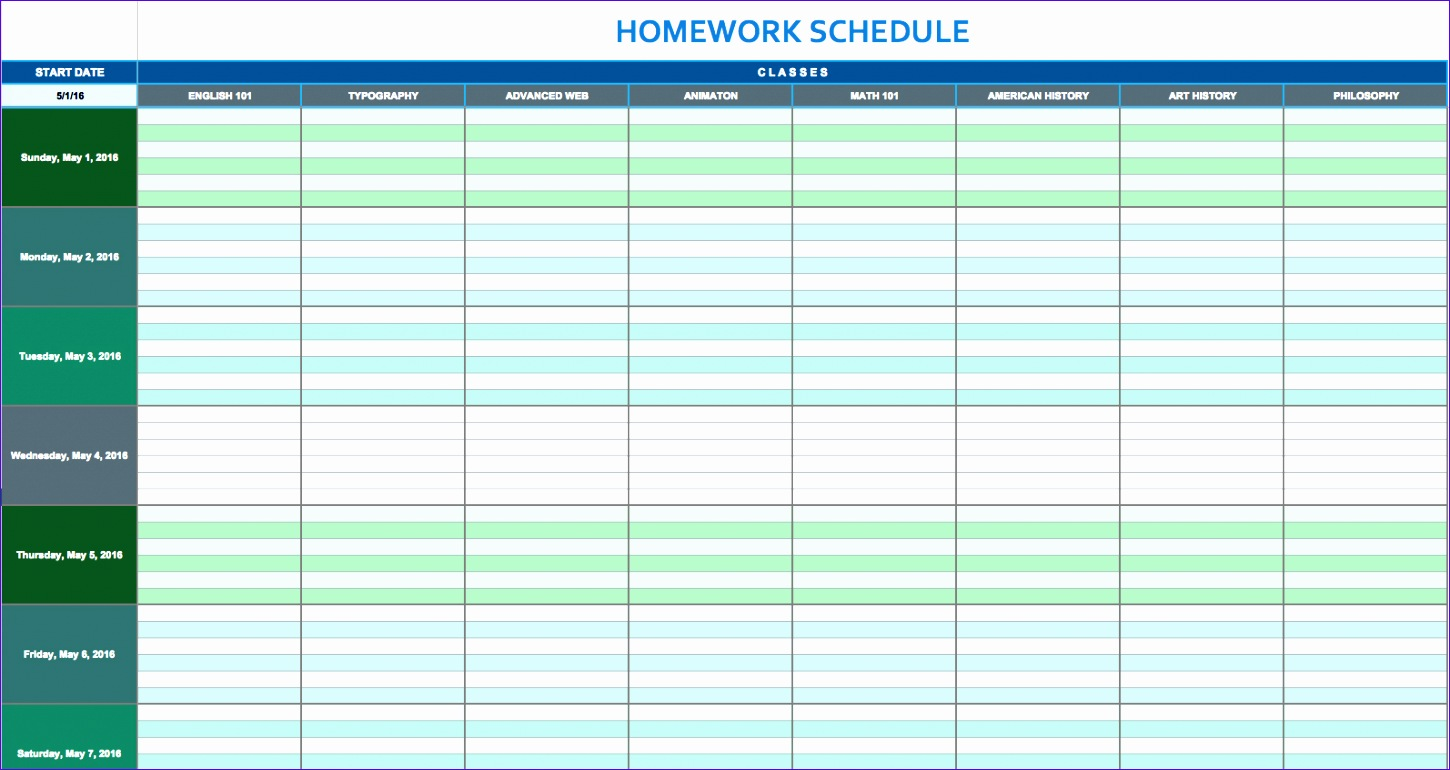10 daily timetable template excel exceltemplates for Weekly itinerary template excel