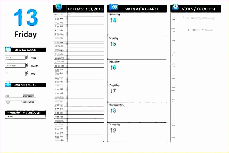 Daily Timetable Template Excel Ndskc Awesome  Excel Daily Schedule