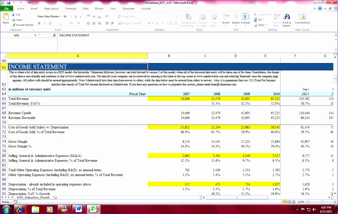 Discounted Cash Flow Analysis Excel Template K5jzl Fresh Valuentum S Dcf Valuation Model Template for Individual Investors